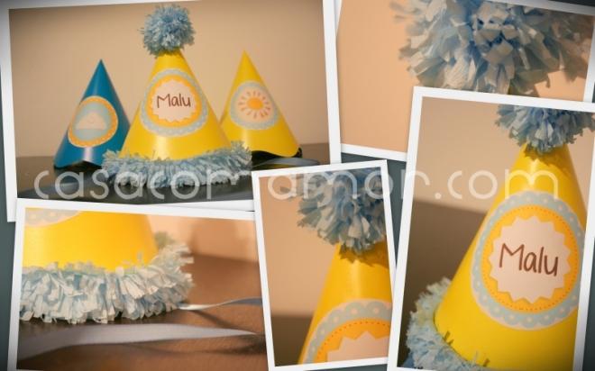 chapeu, chapeuzinho, aniversario, festa, decorado, pompom, pom-pom, franja, papel crepom, diy, tutorial, como fazer, passo a passo
