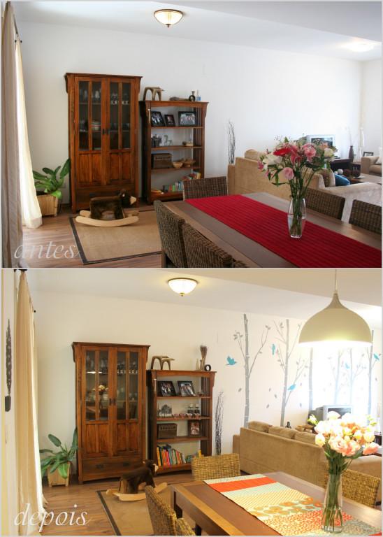 antes e depois � a sala de jantar casa com amor