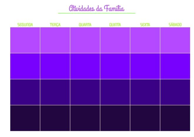 atividades da família em branco